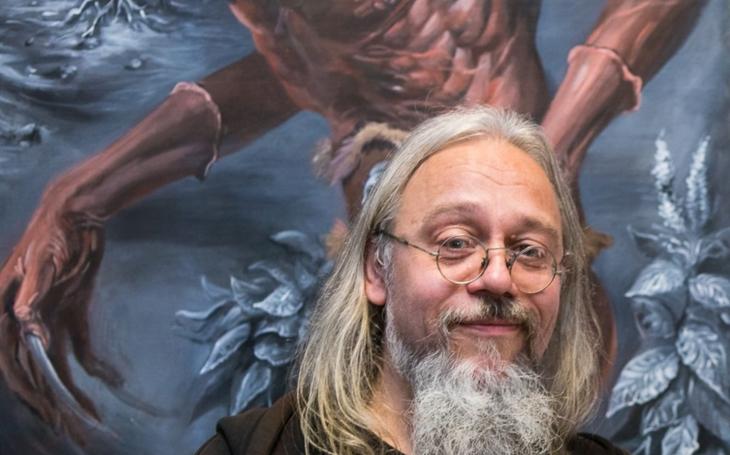 Poctivě zvládnuté řemeslo, to se dnes na AVU trochu upozaďuje, říká akademický malíř Jiří Lhota, autor monstrózního lidského ´bestiáře´